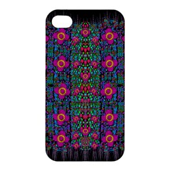Flowers From Paradise Colors And Star Rain Apple Iphone 4/4s Hardshell Case by pepitasart