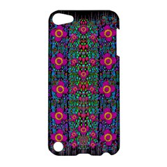 Flowers From Paradise Colors And Star Rain Apple Ipod Touch 5 Hardshell Case by pepitasart