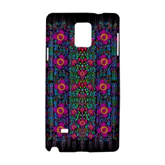 Flowers From Paradise Colors And Star Rain Samsung Galaxy Note 4 Hardshell Case by pepitasart