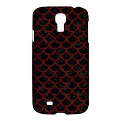 Scales1 Black Marble & Reddish Brown Wood (r) Samsung Galaxy S4 I9500/i9505 Hardshell Case by trendistuff