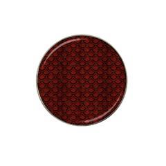 Scales2 Black Marble & Reddish Brown Wood Hat Clip Ball Marker (4 Pack) by trendistuff