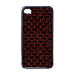 Scales3 Black Marble & Reddish Brown Wood (r) Apple Iphone 4 Case (black) by trendistuff