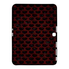 Scales3 Black Marble & Reddish Brown Wood (r) Samsung Galaxy Tab 4 (10 1 ) Hardshell Case  by trendistuff