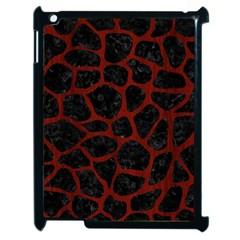Skin1 Black Marble & Reddish Brown Wood Apple Ipad 2 Case (black) by trendistuff