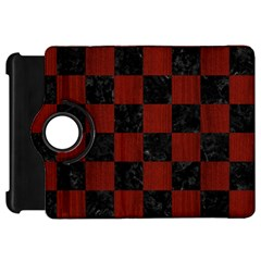 Square1 Black Marble & Reddish Brown Wood Kindle Fire Hd 7  by trendistuff