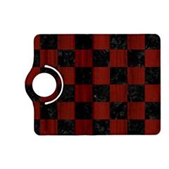 Square1 Black Marble & Reddish Brown Wood Kindle Fire Hd (2013) Flip 360 Case by trendistuff