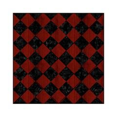 Square2 Black Marble & Reddish Brown Wood Acrylic Tangram Puzzle (6  X 6 ) by trendistuff