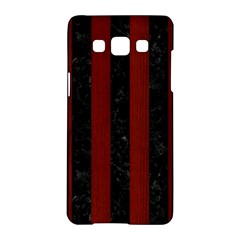 Stripes1 Black Marble & Reddish Brown Wood Samsung Galaxy A5 Hardshell Case  by trendistuff