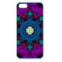 Sunshine Mandala And Fantasy Snow Floral Apple Seamless Iphone 5 Case (color) by pepitasart