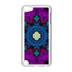 Sunshine Mandala And Fantasy Snow Floral Apple Ipod Touch 5 Case (white) by pepitasart