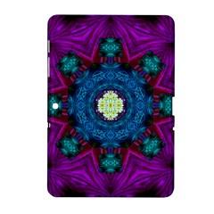 Sunshine Mandala And Fantasy Snow Floral Samsung Galaxy Tab 2 (10 1 ) P5100 Hardshell Case  by pepitasart