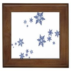 Star Snow Blue Rain Cool Framed Tiles by AnjaniArt