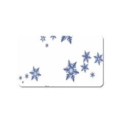 Star Snow Blue Rain Cool Magnet (name Card) by AnjaniArt