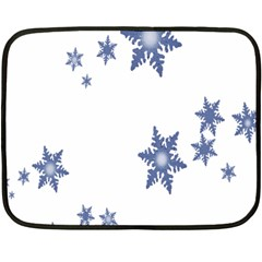 Star Snow Blue Rain Cool Fleece Blanket (mini) by AnjaniArt