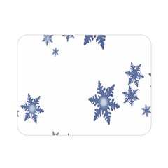Star Snow Blue Rain Cool Double Sided Flano Blanket (mini)  by AnjaniArt