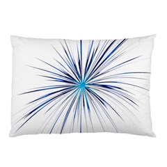 Fireworks Light Blue Space Happy New Year Pillow Case (two Sides) by AnjaniArt