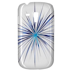 Fireworks Light Blue Space Happy New Year Galaxy S3 Mini by AnjaniArt