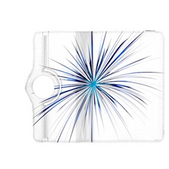 Fireworks Light Blue Space Happy New Year Kindle Fire Hdx 8 9  Flip 360 Case by AnjaniArt
