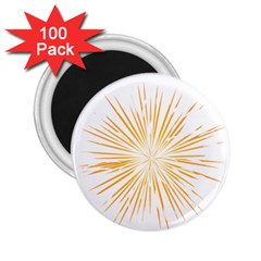 Fireworks Light Yellow Space Happy New Year 2 25  Magnets (100 Pack)  by AnjaniArt