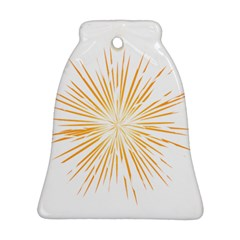 Fireworks Light Yellow Space Happy New Year Ornament (bell)
