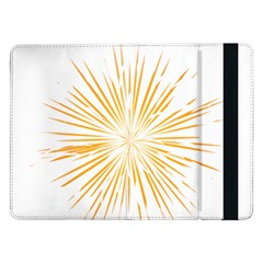 Fireworks Light Yellow Space Happy New Year Samsung Galaxy Tab Pro 12 2  Flip Case by AnjaniArt