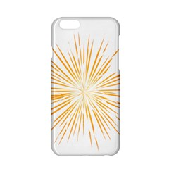 Fireworks Light Yellow Space Happy New Year Apple Iphone 6/6s Hardshell Case by AnjaniArt