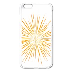 Fireworks Light Yellow Space Happy New Year Apple Iphone 6 Plus/6s Plus Enamel White Case by AnjaniArt