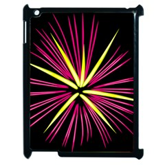 Fireworks Pink Red Yellow Black Sky Happy New Year Apple Ipad 2 Case (black) by AnjaniArt