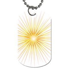 Fireworks Light Yellow Space Happy New Year Red Dog Tag (two Sides) by AnjaniArt