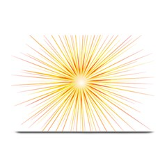 Fireworks Light Yellow Space Happy New Year Red Plate Mats by AnjaniArt