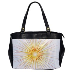 Fireworks Light Yellow Space Happy New Year Red Office Handbags by AnjaniArt