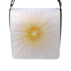 Fireworks Light Yellow Space Happy New Year Red Flap Messenger Bag (l)  by AnjaniArt