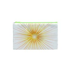 Fireworks Light Yellow Space Happy New Year Red Cosmetic Bag (xs) by AnjaniArt