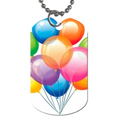 Birthday Happy New Year Balloons Rainbow Dog Tag (two Sides) by AnjaniArt