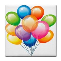Birthday Happy New Year Balloons Rainbow Face Towel by AnjaniArt