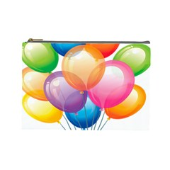 Birthday Happy New Year Balloons Rainbow Cosmetic Bag (large)  by AnjaniArt