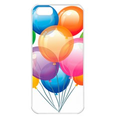 Birthday Happy New Year Balloons Rainbow Apple Iphone 5 Seamless Case (white) by AnjaniArt