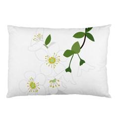 Flower Floral Sakura Pillow Case by AnjaniArt