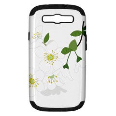 Flower Floral Sakura Samsung Galaxy S Iii Hardshell Case (pc+silicone) by AnjaniArt