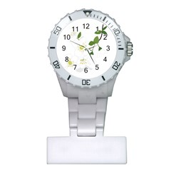 Flower Floral Sakura Plastic Nurses Watch by AnjaniArt