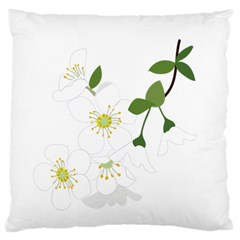 Flower Floral Sakura Standard Flano Cushion Case (one Side) by AnjaniArt
