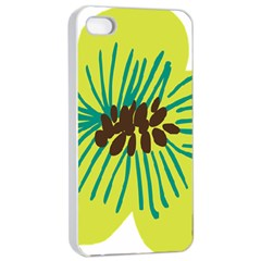 Flower Floral Green Apple Iphone 4/4s Seamless Case (white) by AnjaniArt