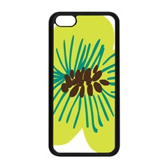 Flower Floral Green Apple Iphone 5c Seamless Case (black) by AnjaniArt