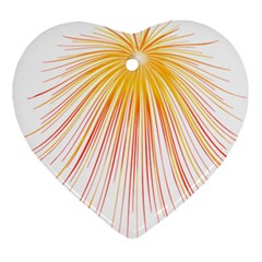 Fireworks Yellow Light Ornament (heart) by AnjaniArt