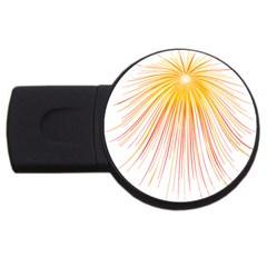 Fireworks Yellow Light Usb Flash Drive Round (2 Gb) by AnjaniArt