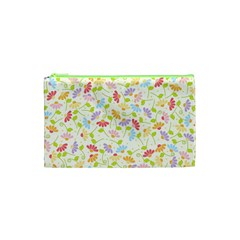 Flower Rainbow Sexy Leaf Plaid Vertical Horizon Cosmetic Bag (xs) by AnjaniArt