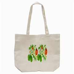 Fruit Flower Leaf Red White Green Starflower Tote Bag (cream) by AnjaniArt