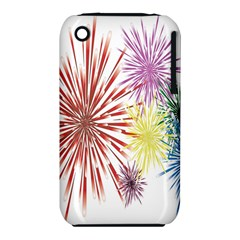 Happy New Year City Semmes Fireworks Rainbow Red Blue Yellow Purple Sky Iphone 3s/3gs by AnjaniArt
