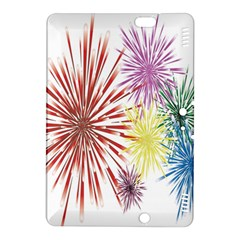Happy New Year City Semmes Fireworks Rainbow Red Blue Yellow Purple Sky Kindle Fire Hdx 8 9  Hardshell Case by AnjaniArt