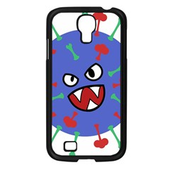 Monster Virus Blue Cart Big Eye Red Green Samsung Galaxy S4 I9500/ I9505 Case (black) by AnjaniArt